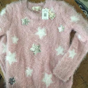 Girly glitter and pink soft sweater